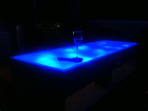 Blue Led Coffee Table K Otik Coffee Tables With Led Lights