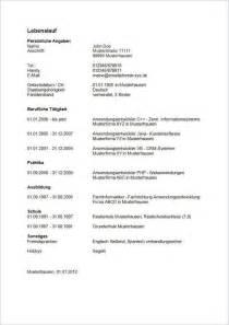 Tabellarischer Lebenslauf Vorlage Schule Lebenslauf Tabellarischer Lebenslauf F 252 R Die Bewerbung