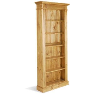 Leon Pine Tall And Narrow Bookcase Furniture123 Narrow Pine Bookcase