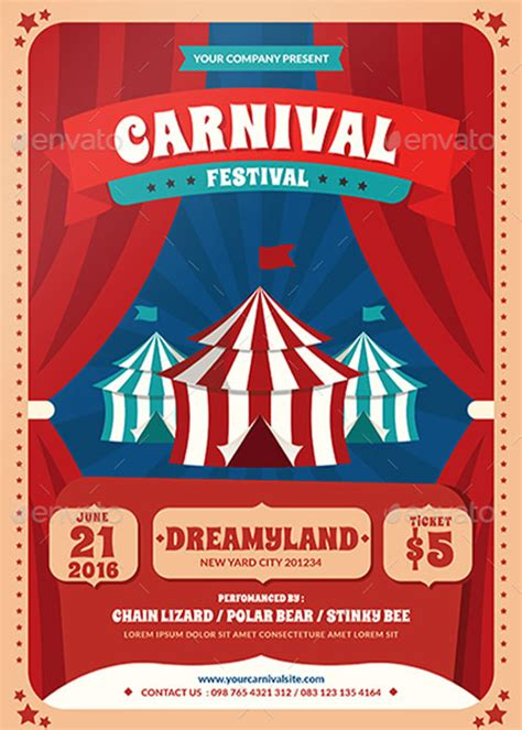 templates for carnival flyers top 30 best carnival flyer templates 2017 download psd