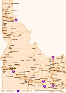 idaho state map counties cities boise map map of usa