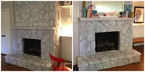 cobblestone fireplace painting a i did it with