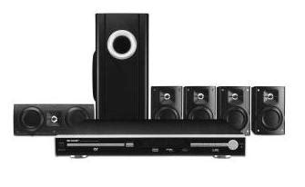 sharp ht cn550 region free dvd home theater system