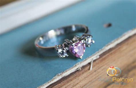 Cincin Perak Singel R 1669 cincin kawin merah muda perak single cincin kawin emas