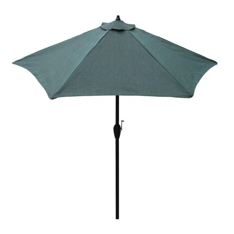 hton bay 9 ft aluminum patio umbrella in peacock java