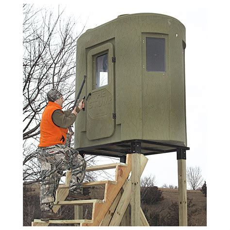 Bow Hunting Blind Plans Banks Outdoors The Stump 2 Tower Style Deer Stand Hunting