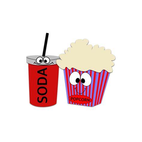 popcorn character clipart soda clipart  snacks
