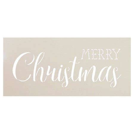 Merry Christmas Stencil By Studior12 Trendy Rustic Script Word Art Reusable Mylar Template Merry Word Template