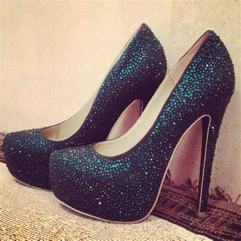 nice shoes fashionstylecutie black sparkly high heels