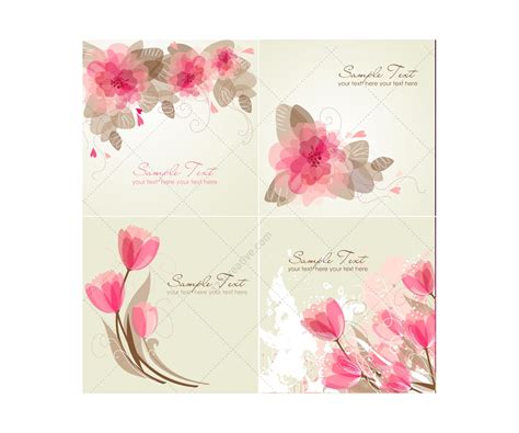 flower design greeting cards vector greeting cards with flowers floral card templates
