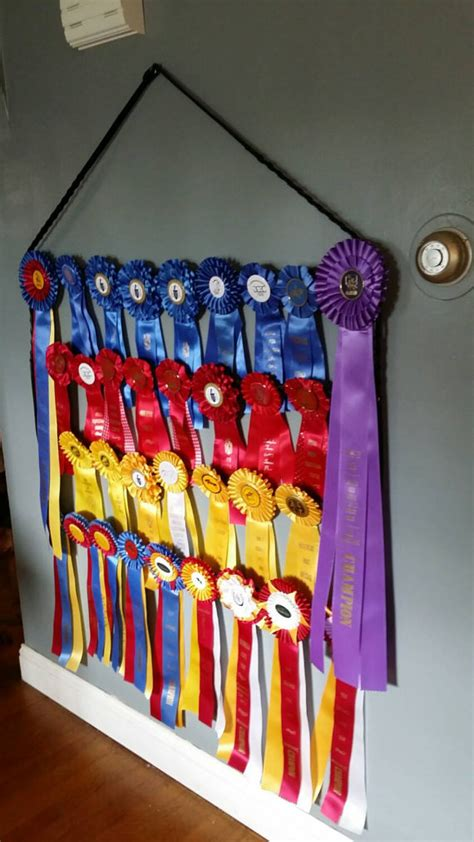 Show Ribbon Rack by Equestrian Show Ribbon Holder Display Rack Made With