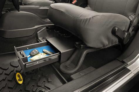 seat gun safe jeep wrangler bestop 174 locking seat storage box in textured black