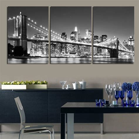 3 free shipping sell modern 3 free shipping sell modern wall painting new york bridge home decorative