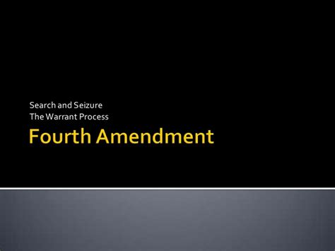 4th Amendment Search Warrant Fourth Amendment