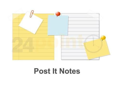 post  notes powerpoint template powerpoint