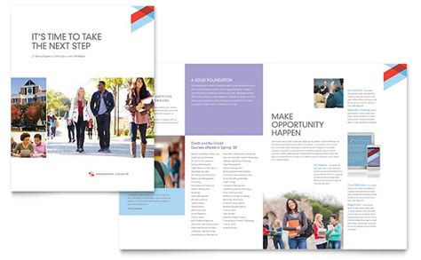 college brochure templates community college brochure template design