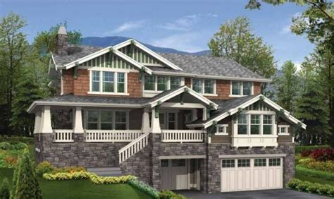 houses with walkout basement modern diy art designs awesome sloping lot house plans hillside pictures house