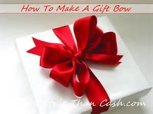 make a gift bow