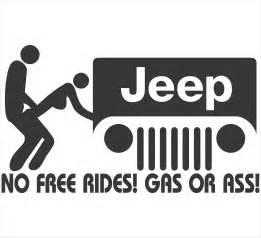 Free Jeep Stickers No Free Rides Jeep Decal