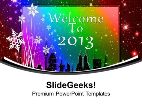 happy new year welcome to 2014 powerpoint template auto