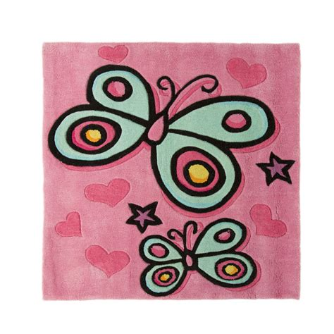 childrens butterfly rug flair rugs childrens butterfly design floor rug ebay