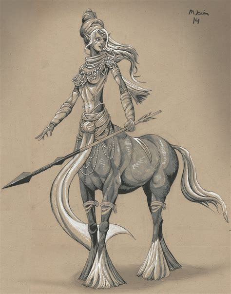 female centaur drawing by mikekimart on deviantart