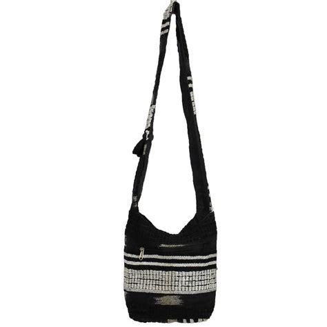 Fashion Flower Sling Bag Mini 8813 hippie festival mini sling hobo shoulder bag heavy woven