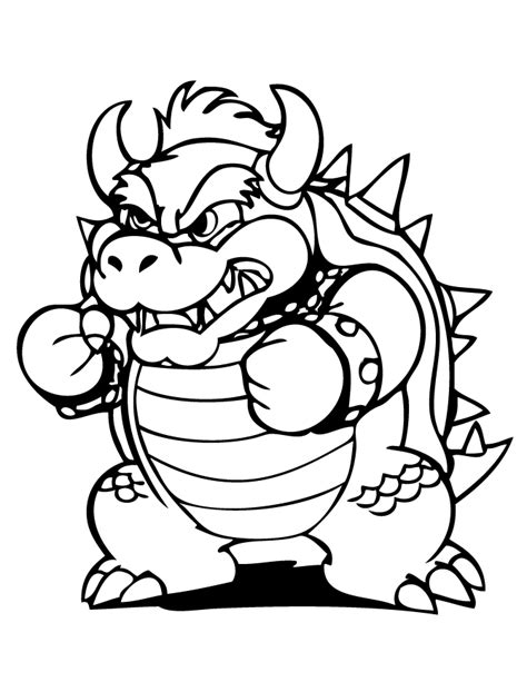 coloring page bowser bowser coloring pages to print coloring home