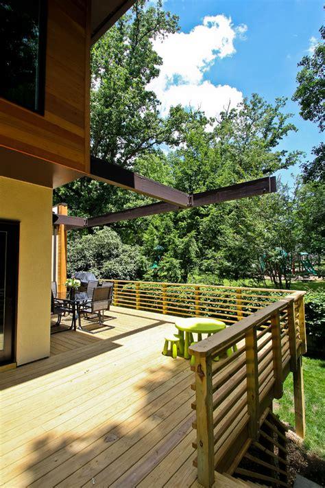 horizontal deck railing exterior contemporary  asian bamboo brick concrete beeyoutifullifecom