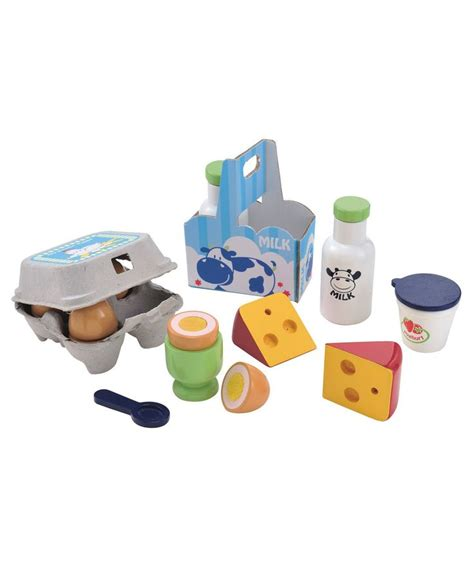 Elc Puzzle And Gameboard Days Of The Week wooden dairy and eggs set toys dairy and kitchens