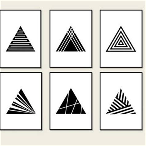 Geometric Home Decor set 6 prints minimalist geometric from artvintageprint on etsy