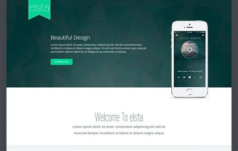 bootstrap mobile template 20 free html css psd and gui templates from november