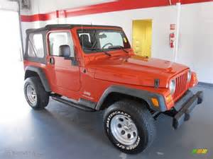 impact orange 2006 jeep wrangler se 4x4 exterior photo