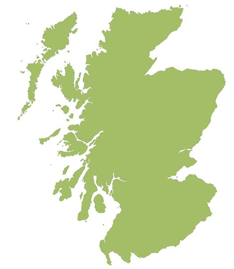 Scottish Outline by Scotland Map Outline Clipart Best