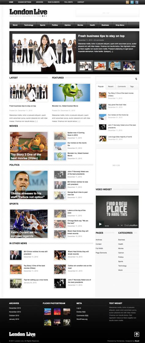 london themes wordpress 25 best wordpress themes for newspapers and magazines