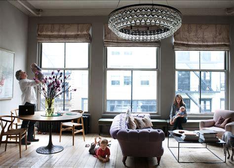 livingroom soho a classic new york loft apartment