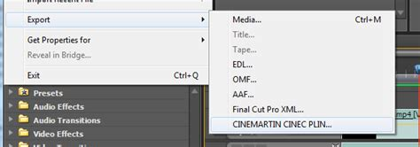 export adobe premiere to after effects cinemartin releases prores h 265 plugin for adobe after