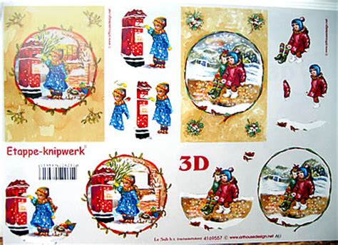 le suh decoupage le suh children in snow decoupage 557