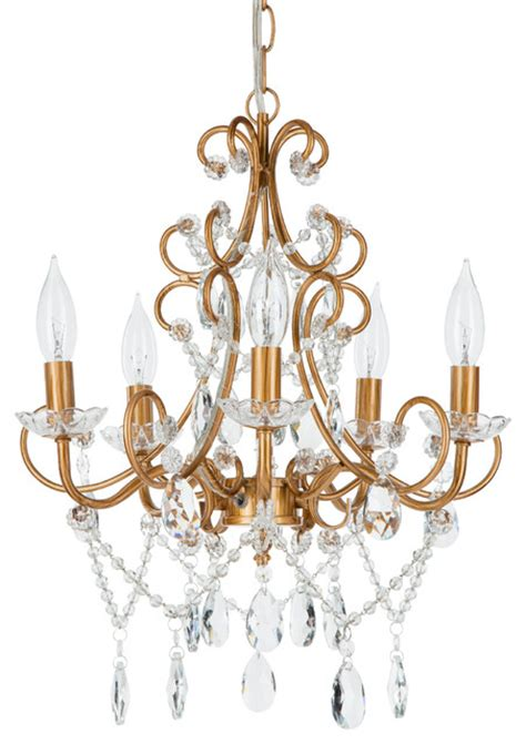 theresa chandeliers theresa 5 light wrought iron chandelier gold