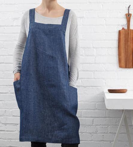 Square Crossback Linen Apron   Home Kitchen & Pantry