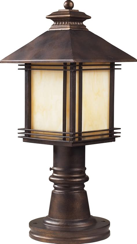 Mounted Light Fixture Elk Lighting 42104 1 Blackwell Outdoor Post Mount Fixture