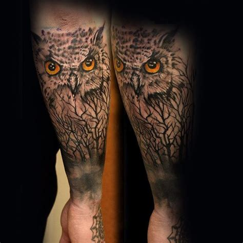 owl tree tattoo designs 60 forearm tree designs for forest ink ideas