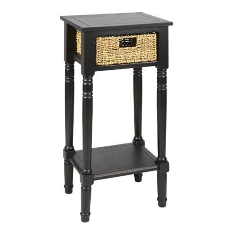 Black End Table With Drawer by Black End Table With Seagrass Drawer Tree