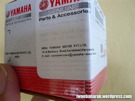 Filter Oli Byson Yamaha Genuine Parts ealahhh jebule sparepart filter oli yamaha byson masih