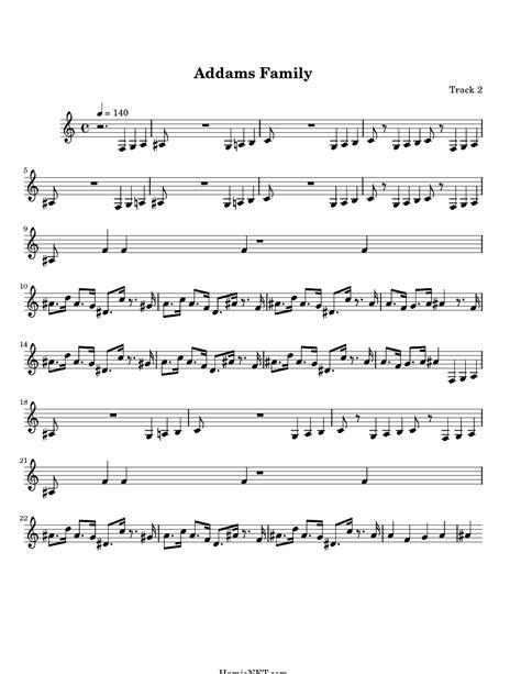 theme song addams family addams family sheet music addams family score hamienet com