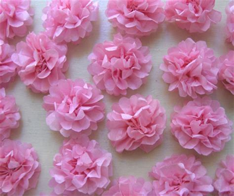 Flowers From Tissue Paper - steps to make tissue paper flowers b2b news b2b