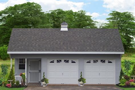 Cost Of Two Car Garage by Build Detached Two Car Garages From The Amish
