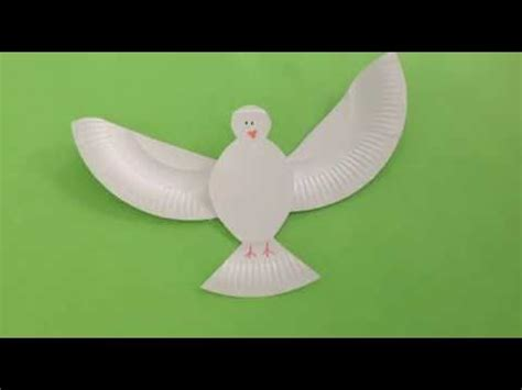 How To Make A Dove Out Of Paper - how to make a paper plate dove