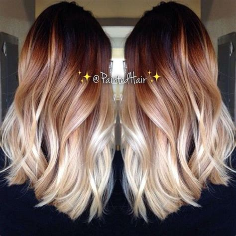 10 two tone hair colour ideas to dye for instagram mid length and layered hairstyles