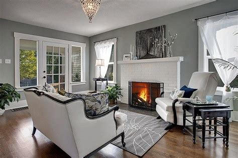 i want to do a grey accent wall and white brick fireplace for living room home decor